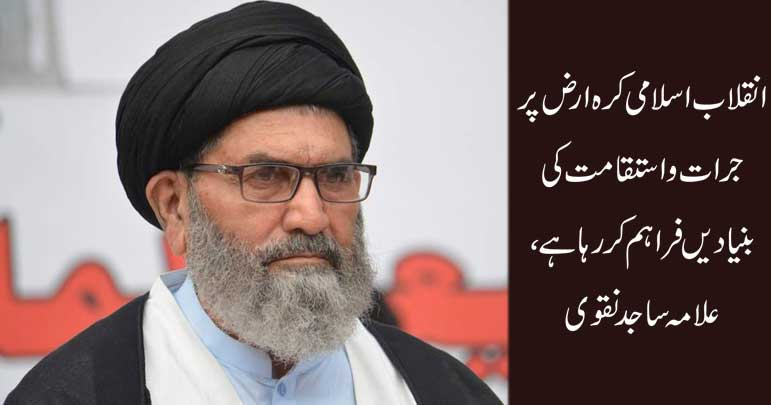 انقلاب اسلامی کرہ ارض پر جرات و استقامت کی بنیادیں فراہم کر رہا ہے