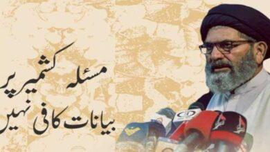 مسئلہ کشمیر کے حل کیلیئے عملی اقدامات اٹھانا ہونگے، علامہ ساجد نقوی