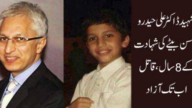 شہید ڈاکٹر علی حیدر و کمسن بیٹے کی شہادت کے 8 سال، قاتل اب تک آزاد