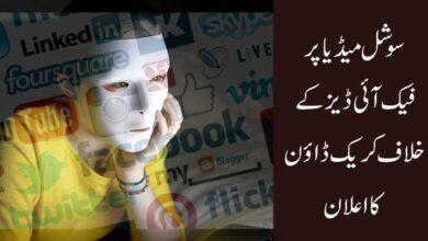 سوشل میڈیا پر فیک آئی ڈیز کے خلاف کریک ڈاؤن کا اعلان