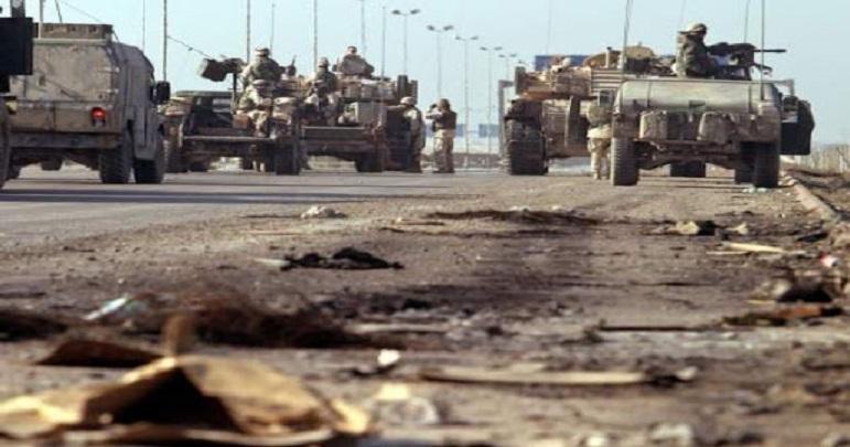 عراق میں امریکی فوجیوں کے کانوائے پر حملہ