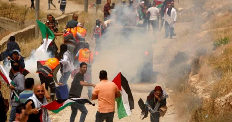 فلسطینی نوجوانوں اور صیہونی فوجیوں کے درمیان جھڑپیں