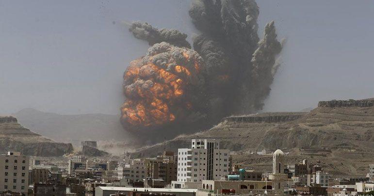 یمنی شہر مآرب پر سعودی اتحاد کی وحشیانہ بمباری