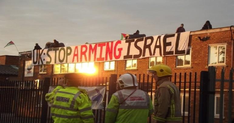 برطانیہ میں اسرائیل کے ڈرون طیارے کے کارخانے کی موجودگی پر احتجاج