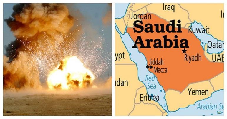 سعودی عرب کے اسلحہ گودام ميں زور دار دھماکہ