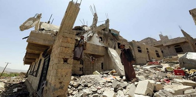 یمن: صوبہ مآرب پر 450 بار سعودی فضائی بمباری