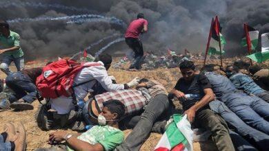 فلسطینی مظاہرین پر صیہونی فوج کی فائرنگ، 82 زخمی