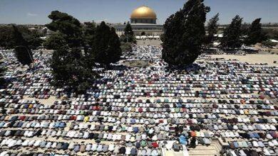 مسجدالاقصی میں 45 ہزار نمازیوں کا روح پرور اجتماع