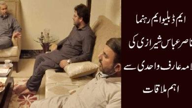 ایم ڈبلیو ایم رہنما ناصر عباس شیرازی کی علامہ عارف واحدی سے اہم ملاقات